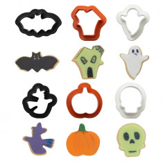 SET 6 MINI CORTA GALLETA HALLOWEEN DECORA