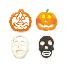 SET 2 CORTA GALLETA CALAVERA Y CALABAZA DECORA