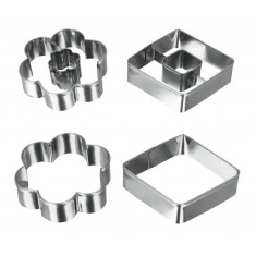 SET 4 PZAS CORTA GALLETA METALTEX